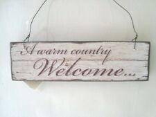 Wooden Heaven Sends A Warm Country Welcome Rustic Sign Plaque  SALE