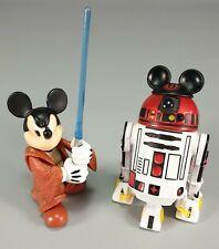 "Star Wars 3.75"" Disney Parks Star Tours Jedi Mickey & R2-MK Starfighter Version!"