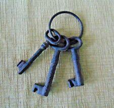 Skeleton keys Rustic Cast Iron metal Pirate Jail vintage reproduction prison