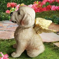 Labrador Retriever Angel Memory Statue Detail Sculpture Hand Painted Resin Pet