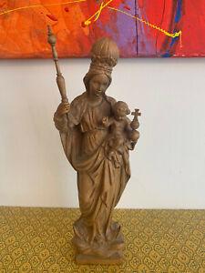 Verkaufe Madonna mit Kind geschnitzt aus Holz
