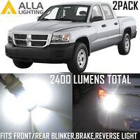 Alla Lighting Back-Up Reverse,Turn Signal,Brake Light White LED Bulbs for Dakota