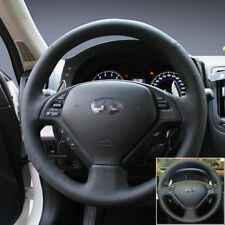For Infiniti G25 Car Steering Wheel Stitch on Wrap Cover Black Leather Interior