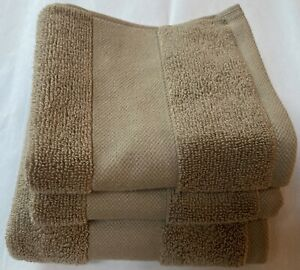 NWT RALPH LAUREN WESCOTT 3 STONEWALL COTTON TOWELS SET $48