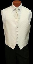 Mens Spectrum Fullback Wave Pattern Wedding Groomsmen Prom Tuxedo Vest & Tie