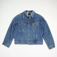 Vintage 70s Wrangler Denim Trucker Jacket Faded Blue Mens size 42