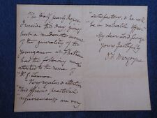 ALS/1850 Letter from British General John Fox Burgoyne to Lord George Cavendish