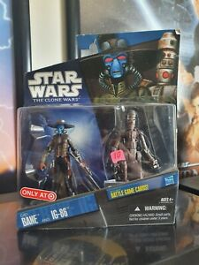 Star Wars The Clone Wars Cad Bane And Ig-86 SEALED Hasbro 2010 Rare