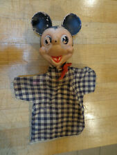 Vintage Rubber Faced Mickey Mouse Walt Disney Hand Puppet
