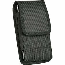 HTC Desire 526 ,Large Nylon Canvas Pouch Case Holster Belt Clip + Hook