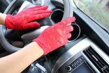 New Design Women Summer Thin Short Gloves Driving UV Sunscreen Lace Gloves