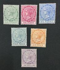 MOMEN: DOMINICA SG #20-26 1886-90 CROWN CA MINT OG H LOT #193108-1719