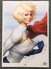 "Stanley Artgerm Lau ""Power Girl"" Signed Premium Art Print"