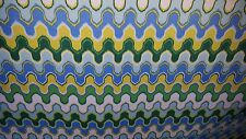 WAVEY CHEVRON BLUE GREEN YELLOW OUTDOOR  UPHOLSTERY FABRIC