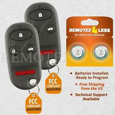 2 Replacement for 1998 99 00 01 02 Honda Accord Keyless Entry Remote Car Key Fob