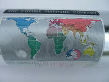 WORLD WALL MAP 1m x 1.94m - The Future Mapping Co - accurate size representation