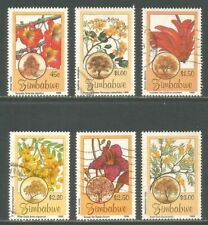 Zimbabwe 1996 Flowering Trees--Attractive Flower Topical (750-55) fine used