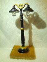 Grandeur Noel Victorian Village Lamp Post Christmas 2001  mounted on wood