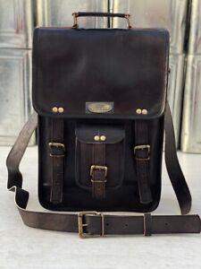 GVB Best Seller genuine leather messenger laptop satchel handmade vintage bag