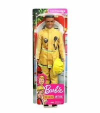 New Barbie Ken Doll  African American Firefighter You Can Anything Career Series