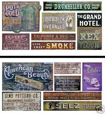 HO Scale Ghost Sign 2-Pack #19 - Great for Weathering Buildings & Structures!
