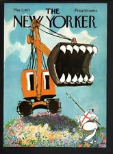 New Yorker magazine COVER ONLY  May 1 1971-Richter art-Crane, horse