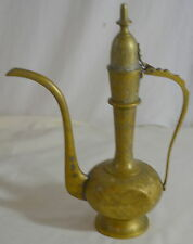 Vintage Brass Lidded Pitcher Urn India