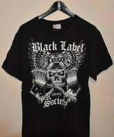 Mens Black Label Society SDMF Zakk Wylde Skull & Crossbones T-Shirt size MEDIUM