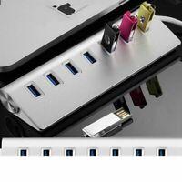 7 Port Aluminum USB 3.0 HUB High Speed 5Gbps For PC Laptop Mac iMac MacBook Pro
