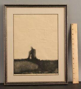 Artist Proof Original Vintage ALCO Surreal Abstract Intaglio Etching Print NR
