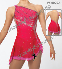 New listing Pink Girl Competition Figure skating Dress Ice Skating Dress Costume Sparkle