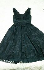 WAYNE COOPER Black Lace Cocktail Dress Size 0 (6)