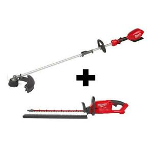 Milwaukee String Hedge Trimmer Combo Kit 18-Volt Lithium-Ion Cordless (2-Tool)