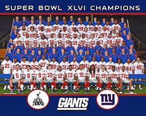 NY Giants 2011 Superbowl Champions, 8x10 Color Photo