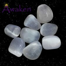 *ONE* SELENITE Natural Tumbled Stone Approx 15-20mm *TRUSTED SELLER*
