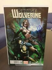 SAVAGE WOLVERINE #1 HASTINGS DELL'OTTO VARIANT SIGNED BY FRANK CHO! 2013! MARVEL