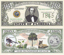 50 Florida FL State Quarter Novelty Currency Bills Lot