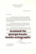 SAMUEL GOLDWYN~LETTER~G.B. SHAW~1950~ARMS AND THE MAN
