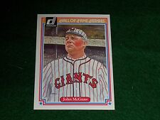 "john mcgraw (new york giants-manag)  1983 donruss ""hall-of-fame heroes"" CARD #35"
