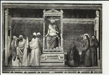 vecchia cartolina di firenze basilica di santa croce san francesco davanti al