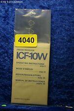 Sony Mini Bedienungsanleitung ICF 10W FM/AM Receiver (#4040)