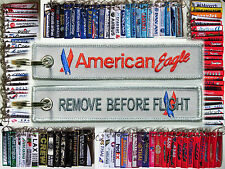 Keyring American Eagle old logo Remove Before Flight tag keychain