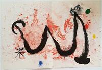 Joan Miro Original Stone Lithograph Derriere le Miroir Double Sheet 1963