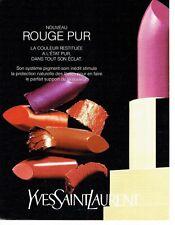 Publicité Advertising  0817  1994  rouge à lèvres maquillage  Yves Saint Laurent