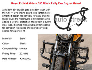 Genuine Royal Enfield Meteor 350 Black Airfly Evo Engine Guard