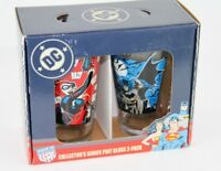 Set of 2 Collectible BATMAN & HARLEY QUINN Pint Glasses 16oz 473ml New