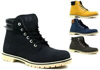 MENS LACE UP BIKER PARTY LOW HEEL COMFY MENS ANKLE BOOTS UK SIZES 7-11