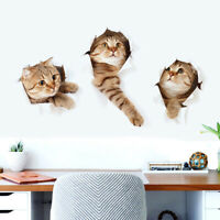 3D Cute Cat PVC Home Room Decor Art Wall Decal Sticker Bedroom Removable Mural
