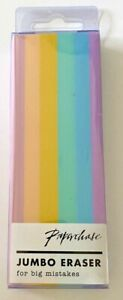 Paperchase Large Jumbo Pastel Stripes Rubber Pencil School Drawing Eraser