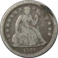 1841 O Seated Liberty Dime VG Very Good 90% Silver 10c US Type Coin Collectible